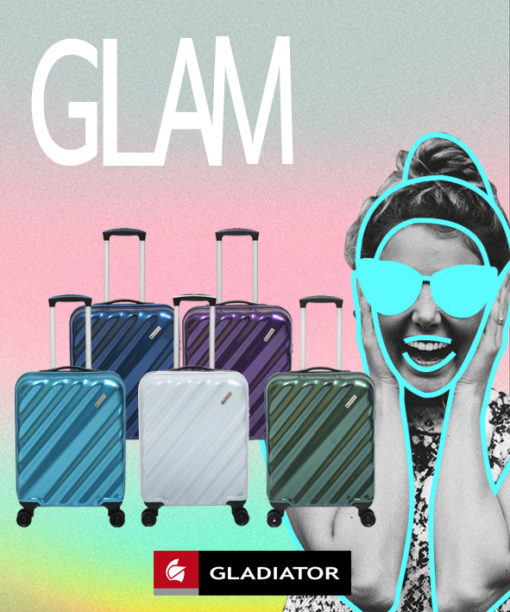 maleta de viaje glam de gladiator